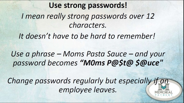 Presentation - Password Slide