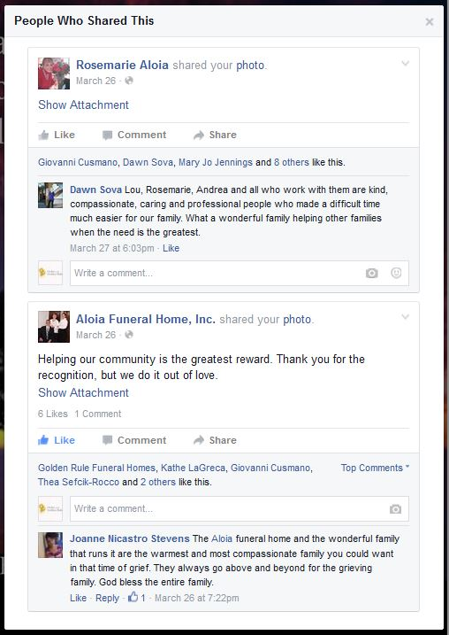 OGR Golden Rule Funeral Home Facebook Interaction