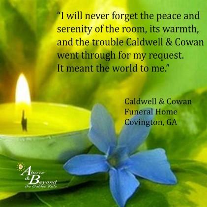 Caldwell & Cowan Funeral Home  3-10-16