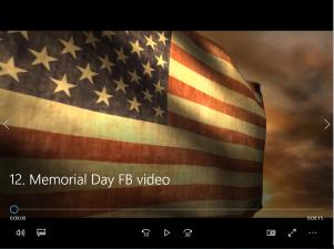 12. Memorial Day